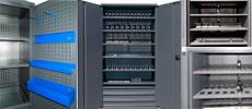 Инструментальный шкаф ШИ-10/2П/5В-Р с роллетными дверьми