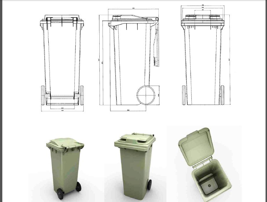 Мусорный контейнер 120 л (23.С29)