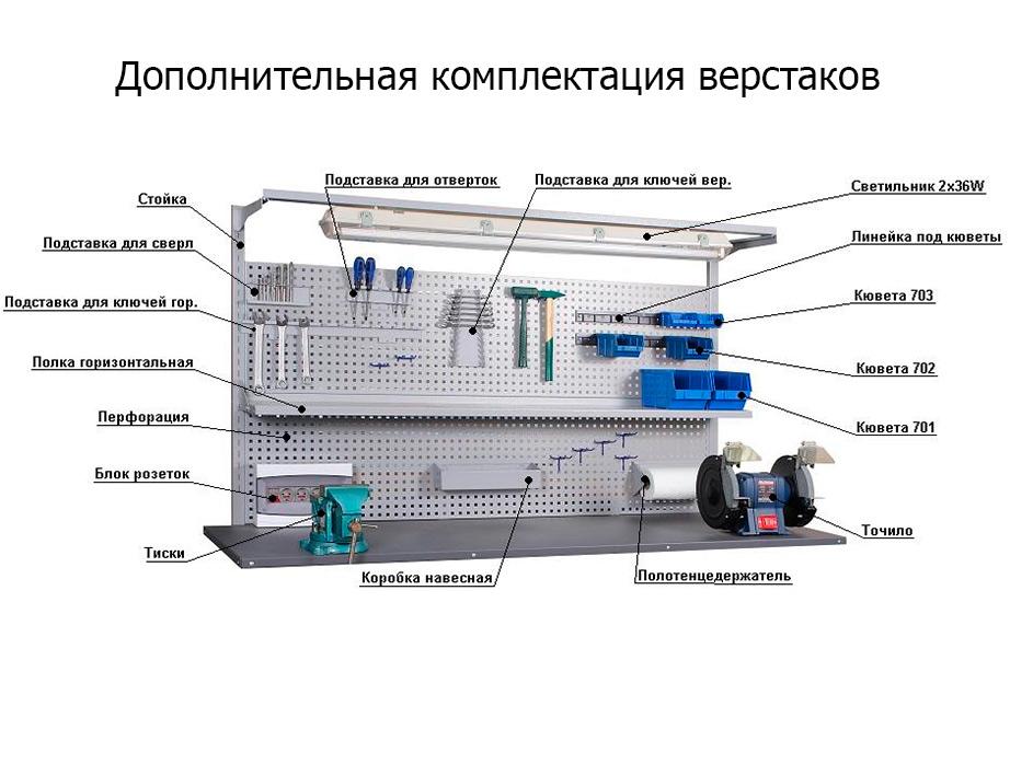 Перфорированные стойки S (L-1100мм) 2 шт.