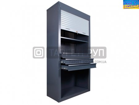 Инструментальный ролетный шкаф с шухлядами