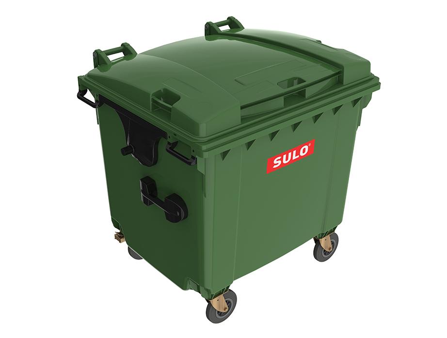 Мусорный бак 1100 л SULO (серый)