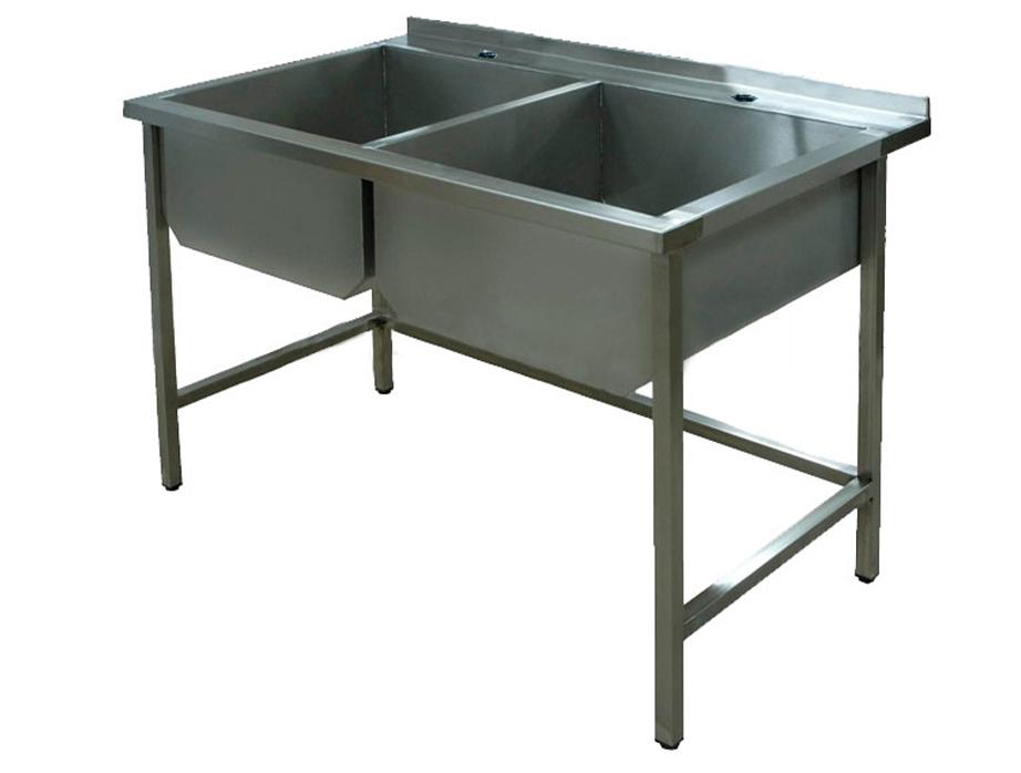 Ванна моечная сварная 1000x600 двойная