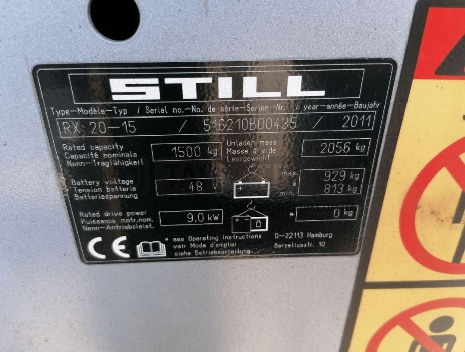 Вилочный электропогрузчик STILL RX 20-15